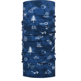 Buff Original Scaldacollo tubolare Bambino, funny camp navy